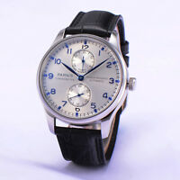 43mm Parnis Power Reserve Automatic Movement Men's Wrist Watch Small Second Dial
