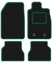 HYUNDAI I10 2014 ONWARDS BLACK TAILORED CAR MATS WITH GREEN TRIM