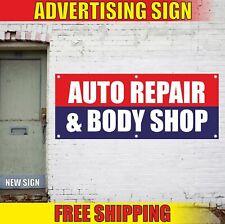 Auto Repair Amp Body Shop Advertising Banner Vinyl Mesh Decal Sign Service Detail