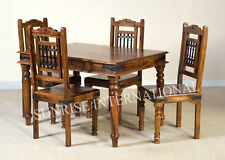 Ethnic style Wood Dining Set ( 1 Table + 4 chairs )