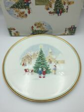 Mikasa Merry Christmas Cake Plate Bone China Japan CAF02/710