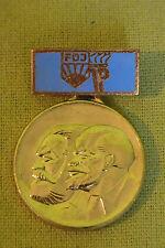 DDR Abzeichen - FDJ - JP - Freundschaftzug DDR  -UdSSR - Lenin - Marx