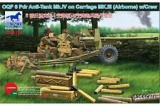 BRONCO CB35168 1/35 OQF 6 Pdr Anti-Tank Mk.IV on Carriage MkIII Airborne w/Crew