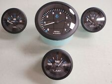INBOARD 4 GAUGE SET 69726P TACHOMETER VOLMETER OIL PRESSURE WATER TEMP ECLIPSE