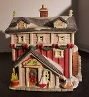 Santa's Best CHUBBY'S BAKERY  SantaKins Christmas Village House Vintage 1993