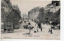 PARIS CPA 75 - la rue royale - attelages