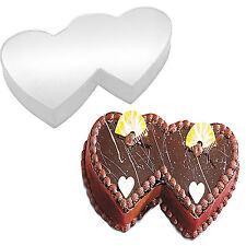 Double Heart Shape Birthday Wedding Anniversary Cake Tin