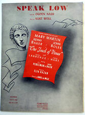 Broadway Musical Sheet Music Speak Low One Touch Of Venus Kurt Weill