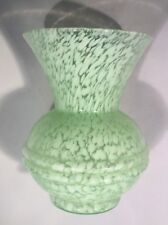 Vintage Lime green glass vase B.B.