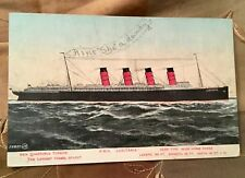 LUSITANIA POSTCARD WWI CUNARD MARITIME DISASTER NAUTICAL MENTIONS SHIP BROOKLYN
