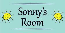 Sunshine Individual Door Name Plaque Boys Bedroom Room Sign Kids Childs (B)