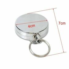 Extendable Metal Wire  Heavy Duty Steel Cord Wire Retractable Key Chain 60cm