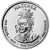 2017 Native American Silver Dollar Natchez Black Bear 1 oz Silver Proof SKU50933