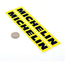 Michelin Stickers Yellow & Black Classic Car Bike Racing Vinyl Decals 200mm x2