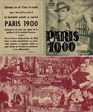 Programa PUBLICITARIO de CINE: PARIS 1900.