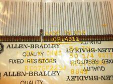 Allen Bradley 22k 5% 1/4 watt  Carbon Comp Resistors  50pc