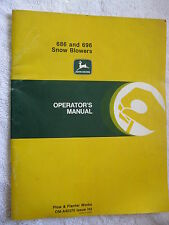 JOHN DEERE 686 & 696, TRACTOR SNOW BLOWERS OPERATORS MANUAL