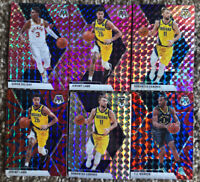 2020 Panini Mosaic Basketball Refractor Indiana Pacers (6) Card Lot