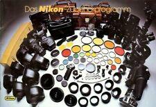 Broschüre Prospekt Nikon Zubehörprogramm Technische Daten German