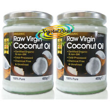 2x Optima Raw Organic Virgin Coconut Oil 453g / 500ml - 100% Chemical Free
