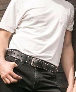 cintura in cuoio uomo con borchie