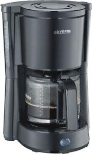 Severin KA 9554 Schwarz-Matt Filter-Kaffeemaschiene Neu & OVP 10 Tassen 1000W
