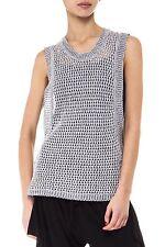 New SABATINI Marled Eyelet Knit Vest Size M   RRP $279