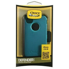 OEM OTTERBOX RUGGED DEFENDER CASE W/ HOLSTER CLIP FOR APPLE iPHONE 4S 4 TEAL NEW