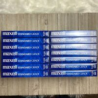 Maxell T-120 Standard Grade VHS Blank Tape 6 Hour VCR New/Sealed [Lot of 14]