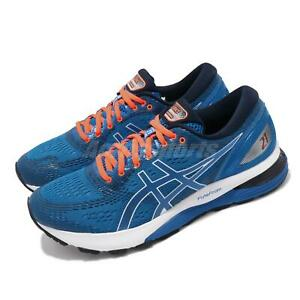 Asics Gel-Nimbus 21 Blue Navy Orange White Men Running Shoe Sneaker 1011A169-401