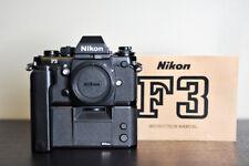 Nikon F3 Film 35mm FX Camera w/ MF-14 Databack & MD-4 Motor Drive