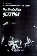 The Moody Blues 1970 original Poster Advert Question balance