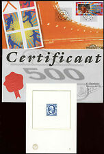 Netherlands 2004 Football Special GOLD FDC + 1852 5c Reprint card #C28124