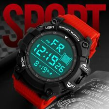 Orologio da uomo ragazzo LCD digitale Stopwatch Militare Sport Polso Orologio