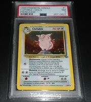 PSA 7 NEAR MINT Clefable 1/64 PRERELEASE Stamped Jungle Set HOLO Pokemon Card