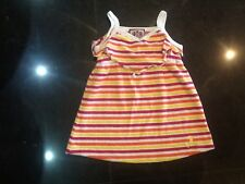 Juicy Couture New & Genuine Baby Girls Striped Towelling Beach Dress 6/12 MTHS