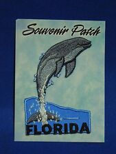Florida Dolphin Porpoise Ocean Souvenir Iron On Patch