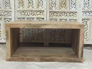 Indian Solid Wood Rectangular Coffee Table Natural (MADE TO ORDER)