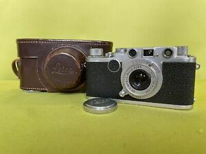 Kamera Leica Ernst Wetzlar DBP IIf rotes Zifferblatt Leitz Elmar 1:3.5 f = 5 cm