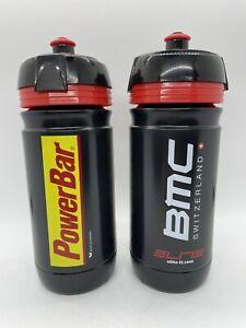 PAIR of TWO Team BMC PowerBar Cycling Water Bottles Bidons 16oz 550ml by Elite