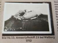 1933 Zeppelin Weltfahrten Cigarette Card German V1 Photo 15 Armee Luftschiff ZII