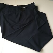 J. Ferrar Mens Dress Pants Sz 48 X 34  Navy Slacks Flat Front Big Tall NWT