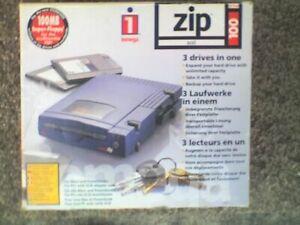 IOMEGA External 100Mb SCSI ZIP Drive & PSU, 25 WAY SCSI INTERFACE , Boxed - USED