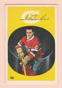 1962-63 PARKHURST #46 GILLES TREMBLAY ROOKIE CARD, CANADIENS, NRMT