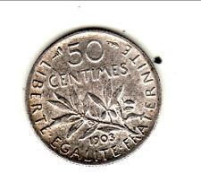 RARE SUP 50 CENTIMES 1903 COTE 320 EURO !!  joli patine