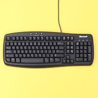 Microsoft Basic Keyboard 1.0A PS/2 Computer Keyboard (Black) *TESTED & WORKING*