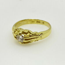 18ct Gold Diamond Solitaire Ring 18ct Yellow Gold Diamond Engagement Ring 0.20ct