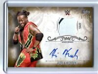 WWE Kofi Kingston 2016 Topps Undisputed GOLD Autograph Relic Card SN 7 of 10