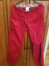 Koi Medium Red Scrub Pants Lindsey! Medical Dental Vet Tech 😷✌�Euc!