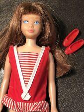 Vintage Barbie SKIPPER doll Black Cherry/Color magic Hair? Brown Scalp OSS Shoes